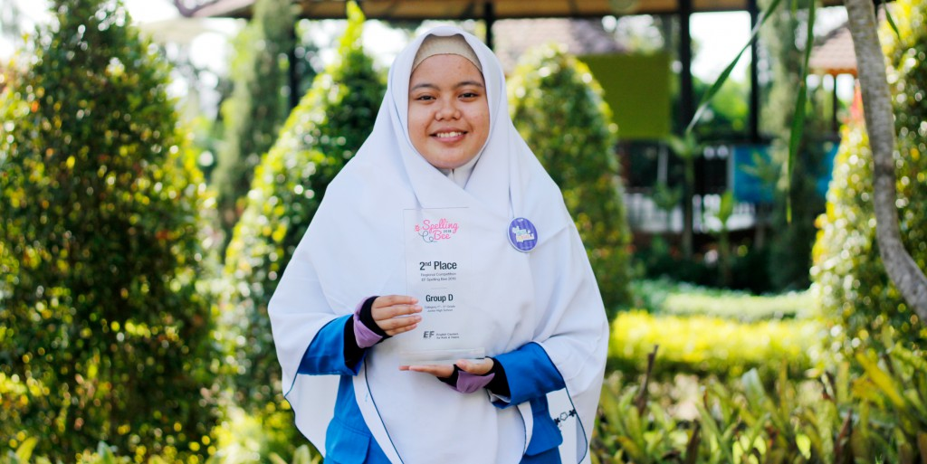 Tazkia IIBS Won a Championship Trophy in EF Spelling Bee Competition 2018